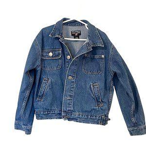 Polo By Ralph Lauren Kids Jean Jacket Blue Flap Pockets Long Sleeve Denim 6/6X